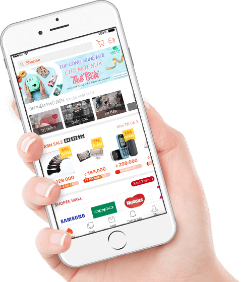 Ứng dụng mua sắm online Shopee