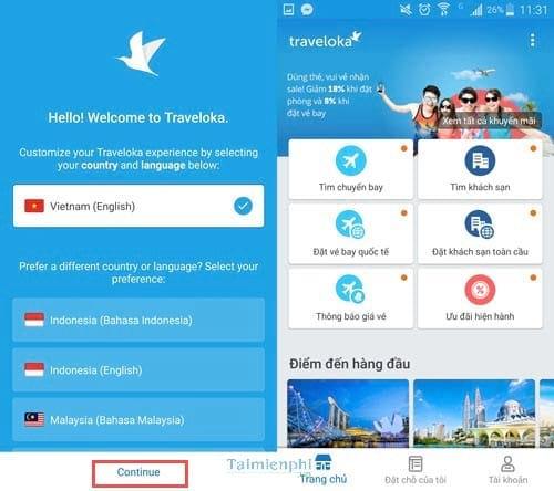 Traveloka một ứng dụng đặt phòng khách sạn và máy bay