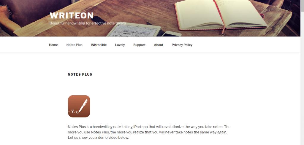 công ty Prime Circa thiết kế ra 2 ứng dụng Notes Plus và INKredible
