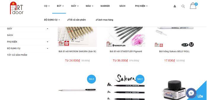 Artdoor - website bán bút nghệ thuật