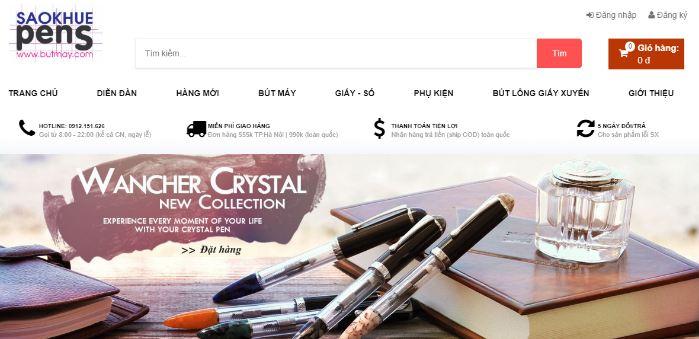 Website bán bút lâu năm - Bút Máy