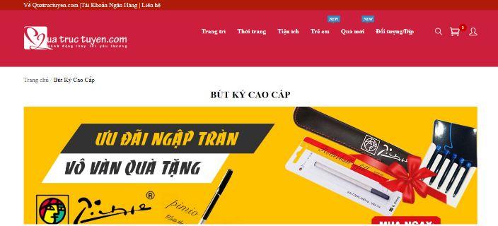 Quà trực tuyến - website bán bút độc đáo