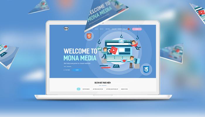 Công ty thiết kế website theo yêu cầu giá rẻ - Mona Media