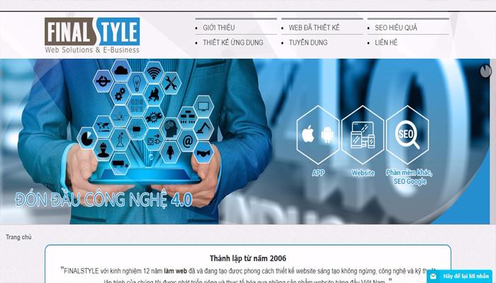 Đơn vị làm web trọn gói - FINALSTYLE