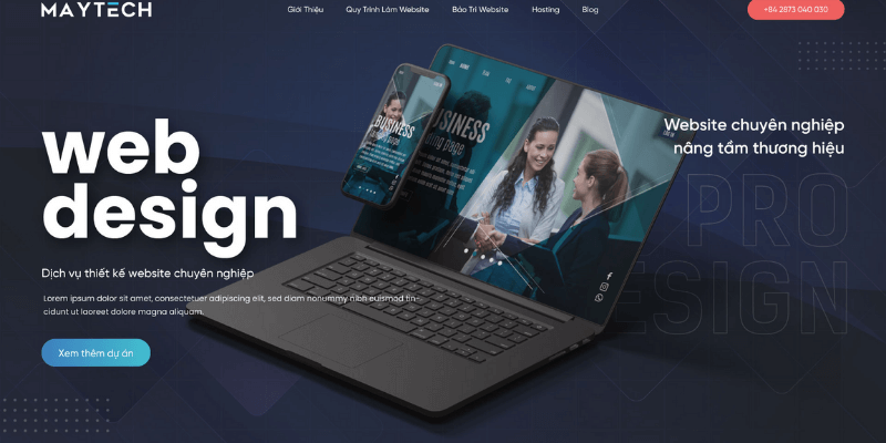 công ty thiết kế website maytech